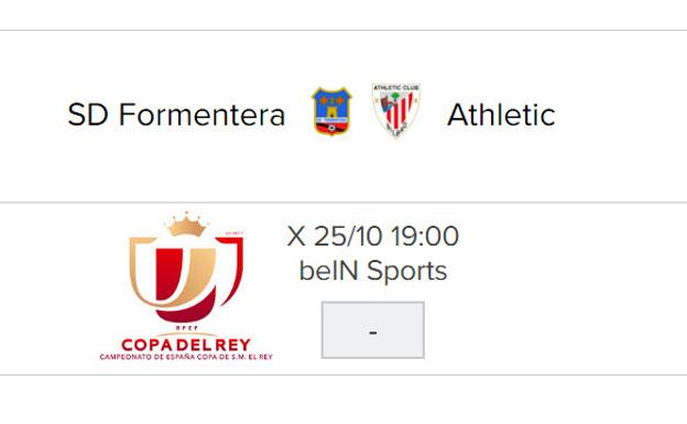 Formentera - Athletic: horario y TV/