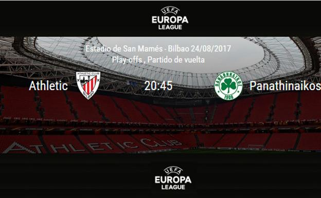 Athletic - Panathinaikos en directo: horario del partido de Europa League./