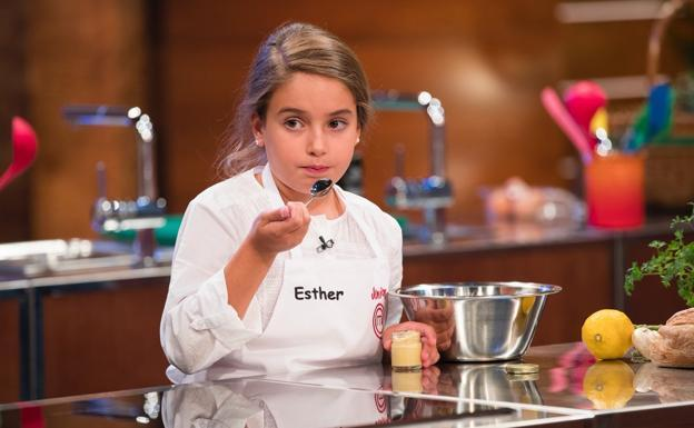 Esther, ganadora de 'MasterChef Junior 5'./TVE