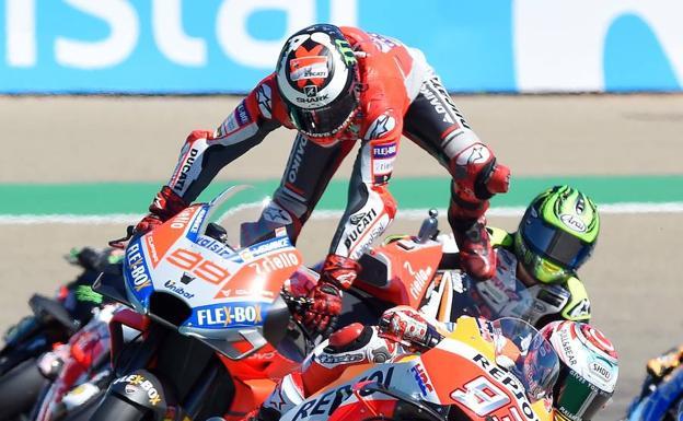 Jorge Lorenzo, con la pole en Aragon — MotoGP