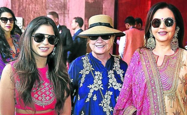 Beyoncé al estilo de Bollywood en la millonaria boda de Isha Ambani