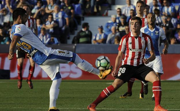 Un momento del Leganés-Athletic.