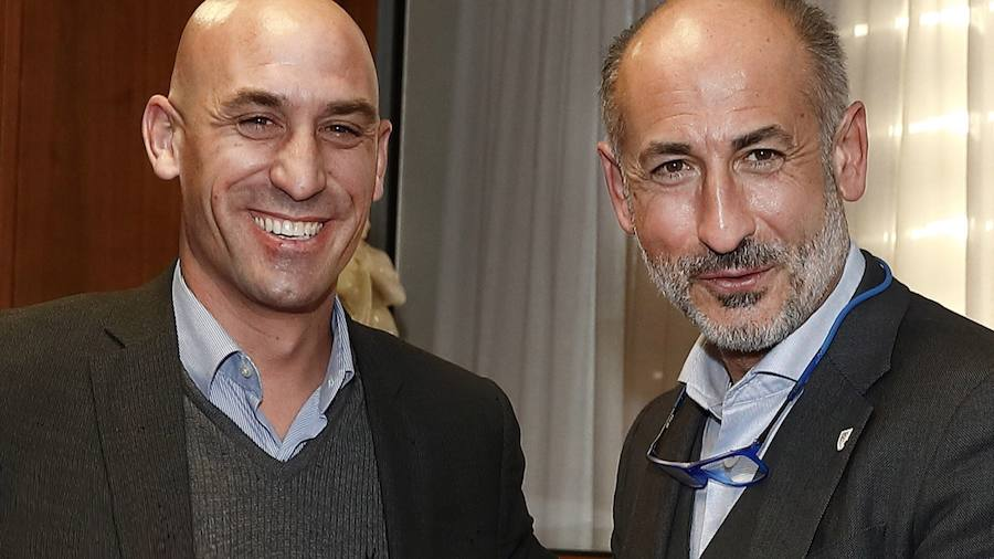Luis Rubiales y Aitor Elizegi./Athletic Club