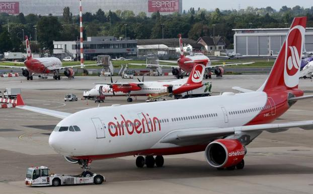 Aviones de Air Berlin./Afp