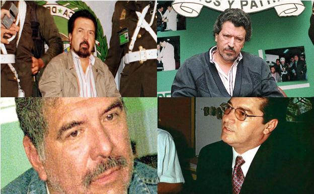 De arriba a abajo y de izquierda a derecha, Gilberto Rodríguez, su hermano Miguel, 'Chepe' Santacruz y 'Pacho Herrera.