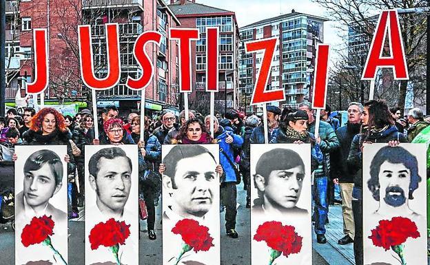 Manifestación de este año en recuerdo de los fallecidos./Blanca Castillo