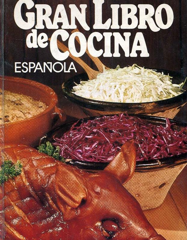 Portada del 'Gran libro de cocina española', 1978.
