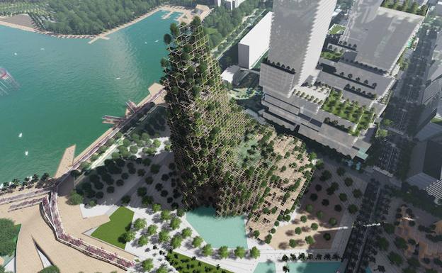 Primer Premio_Centro Urbano Shenzhen. /Guallart Architects_Pati Nuñez Agency
