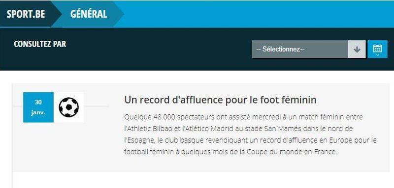 «48.000 espectadores asistieron a un partido femenino entre el Ahtletic de  Bilbao y el Atlético de Madrid en el estadio de San Mamés ... 49b7483401aab