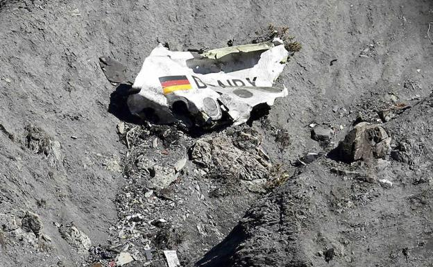 Restos del avión de Germanwings/Reuters