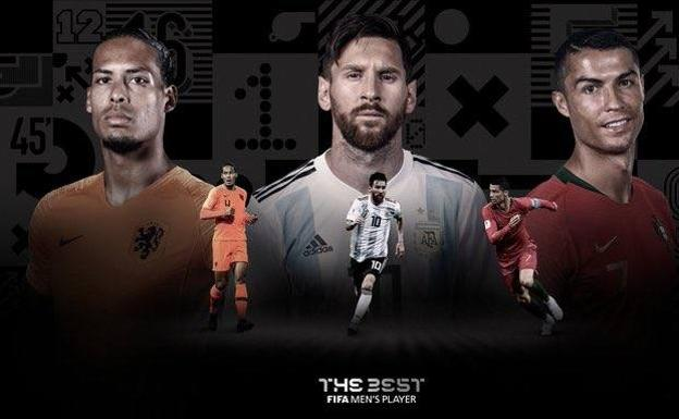 Messi, Cristiano Ronaldo y Van Dijk, candidatos al premio The Best