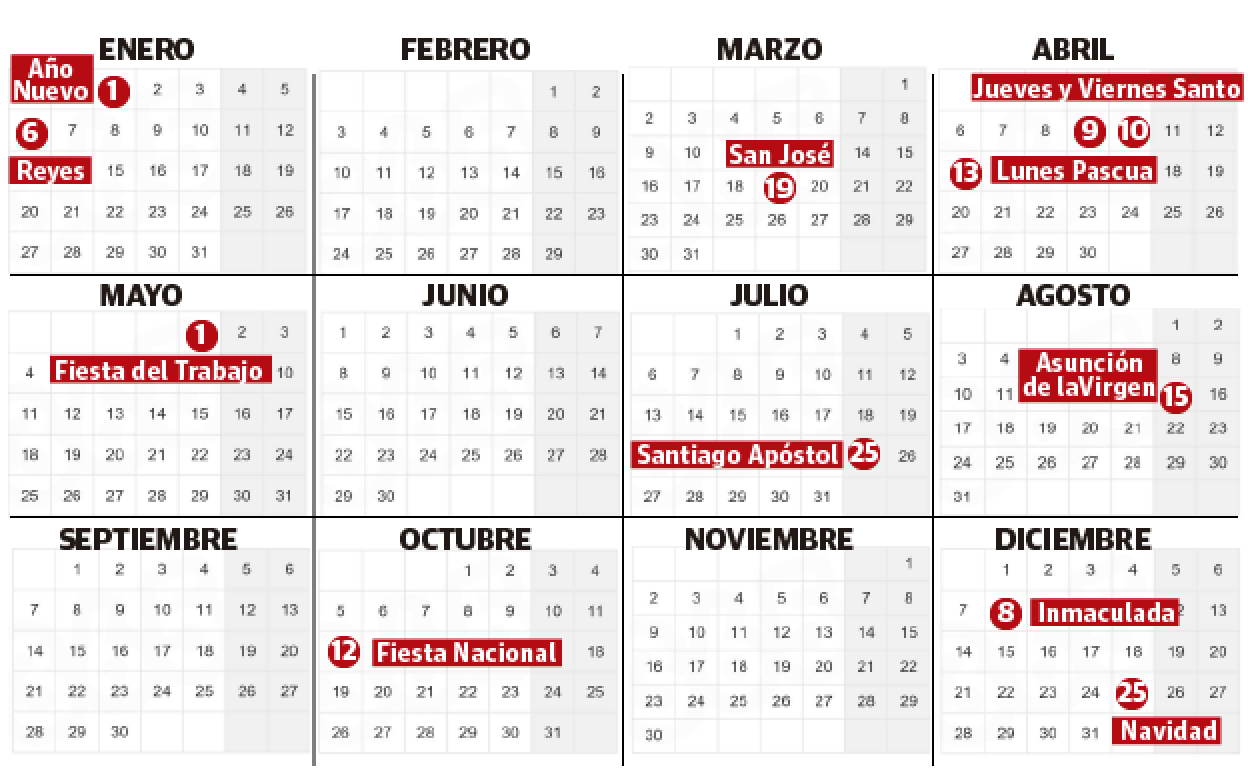 2020 Calendario Laboral.Calendario Laboral Alava 2020 Festivos Locales El Correo