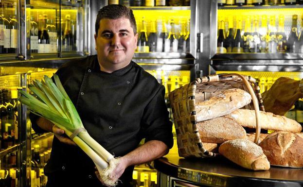 Unai Campo, chef del Porrue./