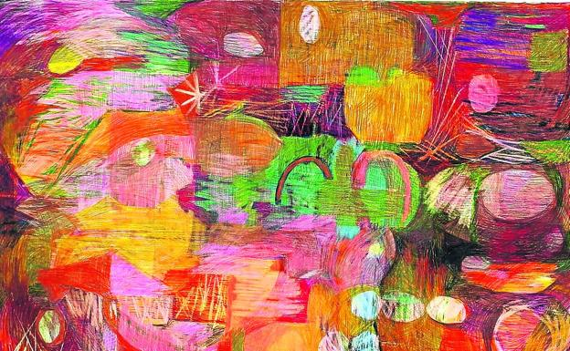 802 euros.  'Landscape 1', 2020, by Izaskun Araluzea.  Pencil on paper.  100 x 70 cm.