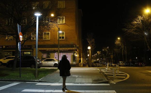 Una mujer pasea por Ariznabarra./E.C.