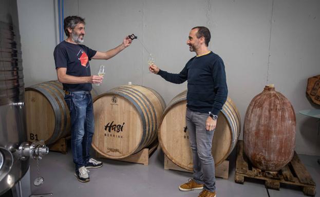 David Zabala y Arkaitz Gabantxo, de Hasi Berriak.