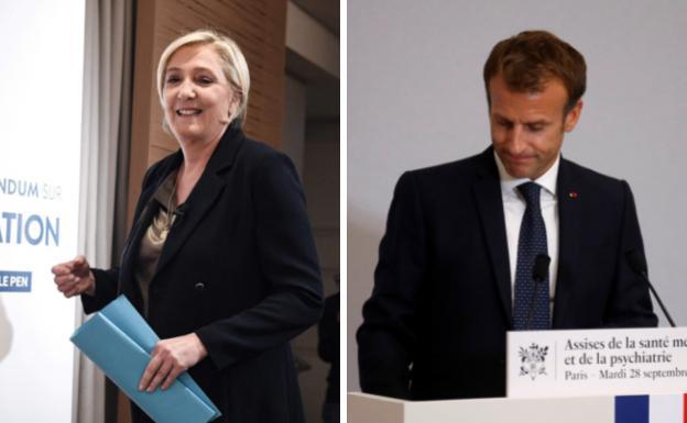 Marine Le Pe n and Enmmanuele Macron.